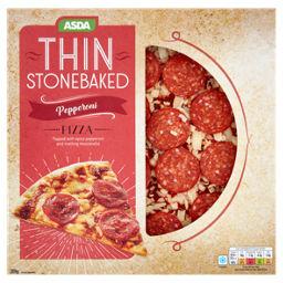 Asda Pepperoni Thin Stonebaked 10 Pizza Asda Groceries