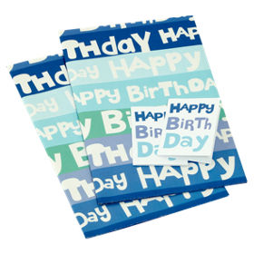 George Home Happy Birthday Blue Flat Gift Wrap Tags