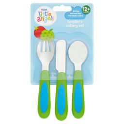 Asda Little Angels Toddler S Cutlery Set 12m Asda Groceries