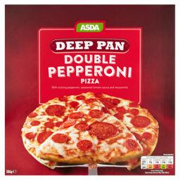 Asda Double Pepperoni Deep Pan Pizza Asda Groceries