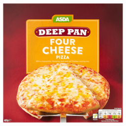 Asda Four Cheese Deep Pan Pizza Asda Groceries
