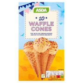 asda waffle ice cream cones asda groceries