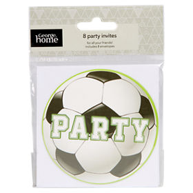 George Home Football Party Invitations