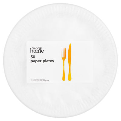sc 1 st  ASDA Groceries & George Home White Paper Plates - ASDA Groceries