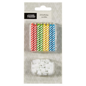 George Home Multi Coloured Birthday Candles