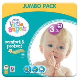 Image result for asda little angels nappies size 3