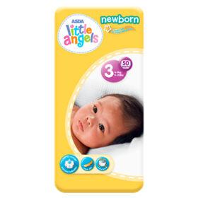 8997c352e47 ASDA Little Angels Newborn Size 3 Nappies - ASDA Groceries