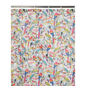 George Home Parrot Fabric Shower Curtain