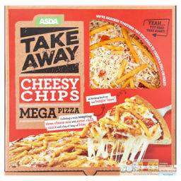 Asda Take Away Cheesy Chips Mega Pizza Asda Groceries