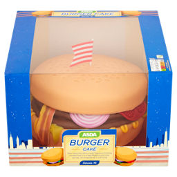 Admirable Asda Burger Cake Asda Groceries Funny Birthday Cards Online Aeocydamsfinfo