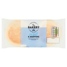 Asda 4 Plain Muffins Asda Groceries