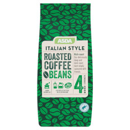 Asda Italian Style Roasted Coffee Beans Asda Groceries