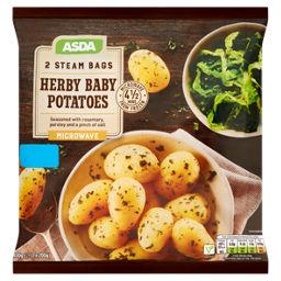 Asda 2 Herby Baby Potatoes Steam Bags Asda Groceries