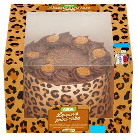 ASDA Leopard Print Celebration Cake