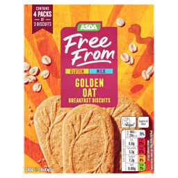 Asda Free From Golden Oat Breakfast Biscuits Asda Groceries