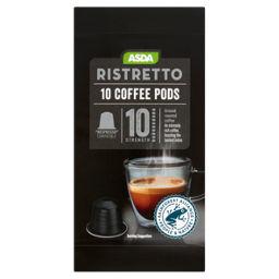 Asda Ristretto 10 Coffee Pods Nespresso Compatible Asda