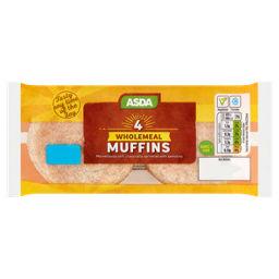 Asda Wholemeal Muffins Asda Groceries