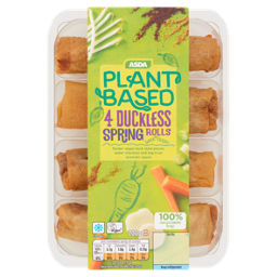 Asda Plant Based 4 Duckless Spring Rolls Asda Groceries
