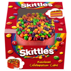 skittles rainbow party cake asda groceries