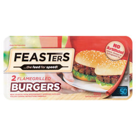 Feasters Microwave Flamegrilled Burgers