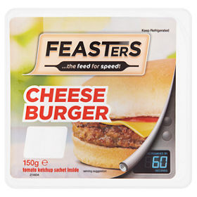 Feasters Microwave Cheese Burger