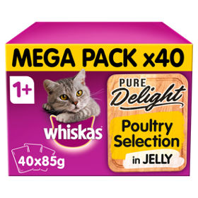 Pure Delight Poultry Selection in Jelly Adult Cat Food Pouches