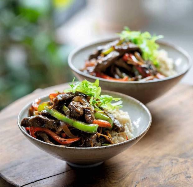 Tom Kerridge's black pepper beef stir-fry