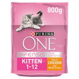 Purina One Chicken Wholegrain Dry Kitten Food Asda Groceries