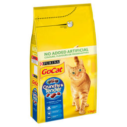 Go Cat Crunchy And Tender Cat Food Salmon Asda Groceries