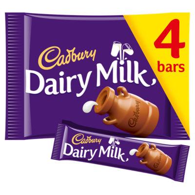 Cadbury Dairy Milk Chocolate Bar 4 Pack Asda Groceries