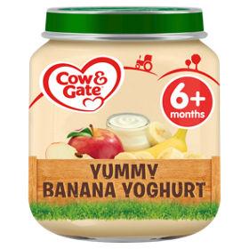 Cow Gate Yummy Banana Yoghurt Baby Food Jar 6m Asda Groceries