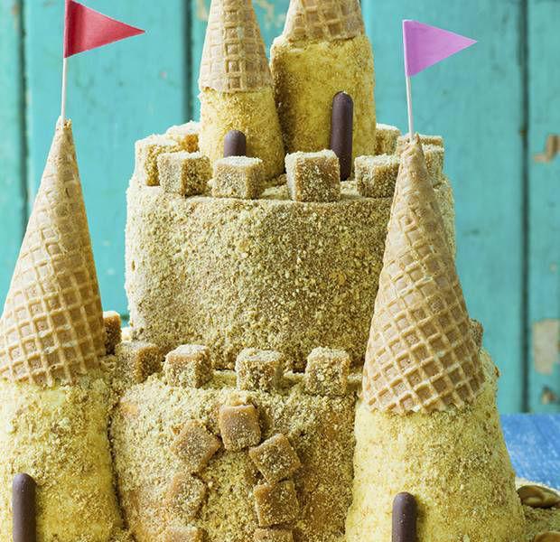 Briony Williams' simple sandcastle cake