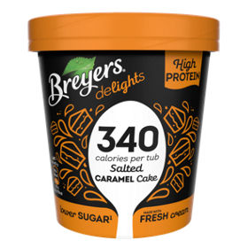 Breyers Delights Salted Caramel Cake Lower Calories Ice Cream Asda