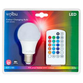 Wolbu Edison Screw Cap Standard Colour Changing 35 Watt E21 Led