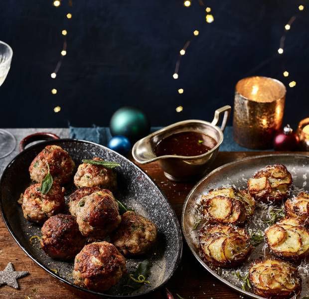 Italian sausage and ciabatta stuffing balls