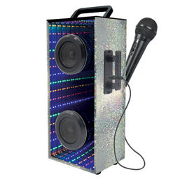 lexibook portable speaker with microphone and lights asda