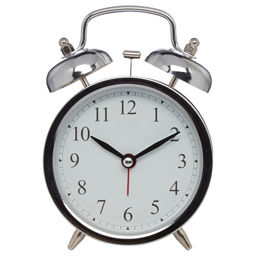Silver Double Bell Alarm Clock