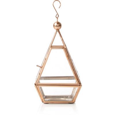 George Home Copper Toned Glass Terrarium Lantern Small Asda Groceries
