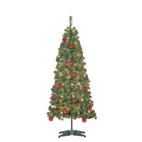 George Home 5ft Pop Up Pre Lit Led Christmas Tree With Baubles