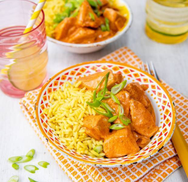 Annabel Karmel's butter chicken with yellow rice