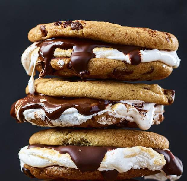Dreamy s'mores sandwich cookies