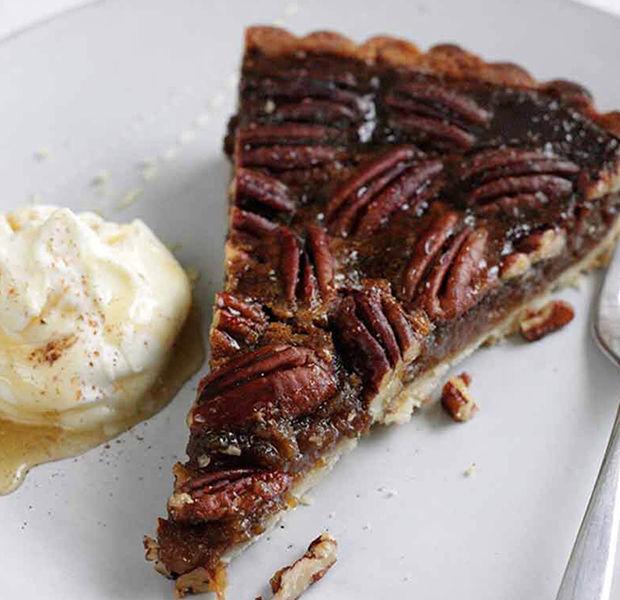 Honeyed pecan pie