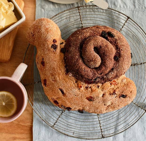 Fruity soda bread snail