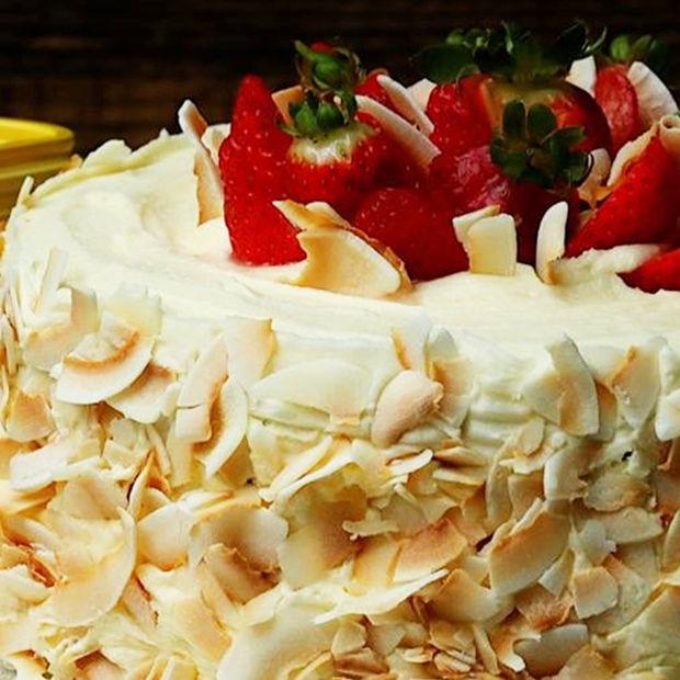 Stork's Strawberry & Coconut Sponge Cake