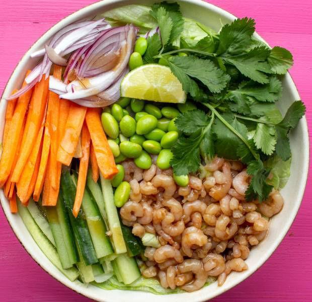 Beat the budget's Prawn Teriyaki Salad Bowl