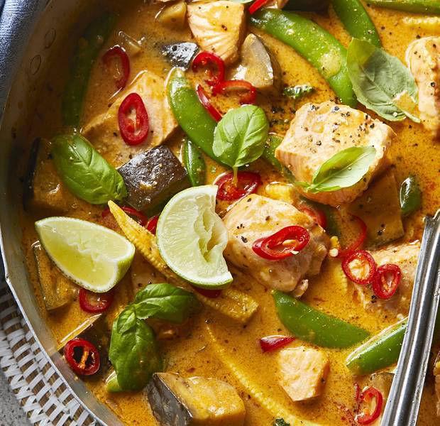 Thai-inspired salmon curry