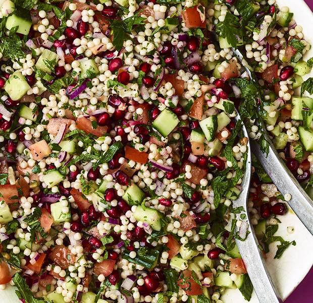 Vegan tabbouleh-inspired pomegranate salad