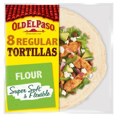 Old El Paso Mexican 8 Regular Super Soft Flour Tortilla Wraps