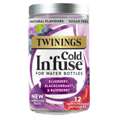 Twinings Cold In'fuse Blueberry, Blackcurrant & Raspberry 12 Infusers