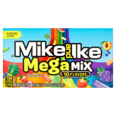 Mike and Ike Mega Mix Chewy Assorted Fruit Flavoured Candies
